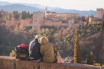 Romantic view of the Alhambra. Granada, Spain