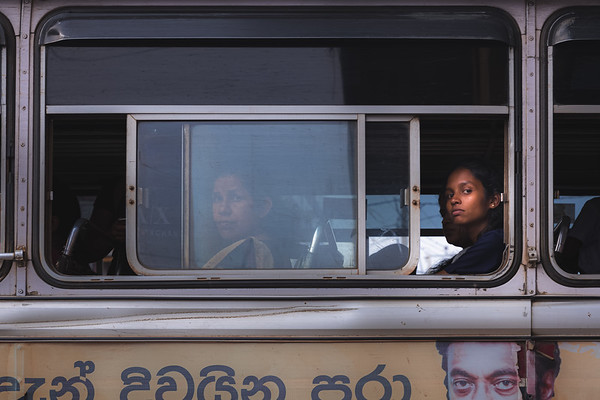 Woman on the Bus, Sri Lanka