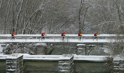 Skiing Quintuplets