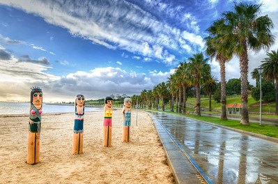 The Bathing Beauties Bollard