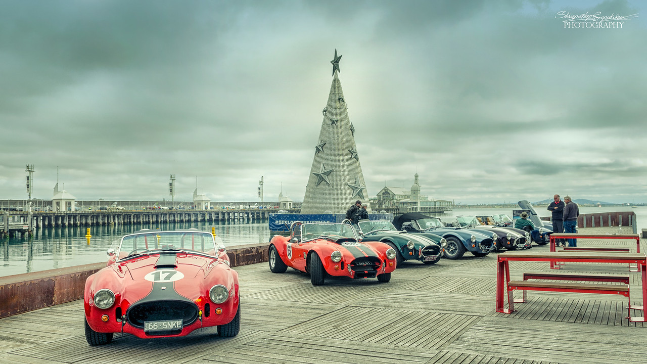Sports cars on the Geelong Carousel