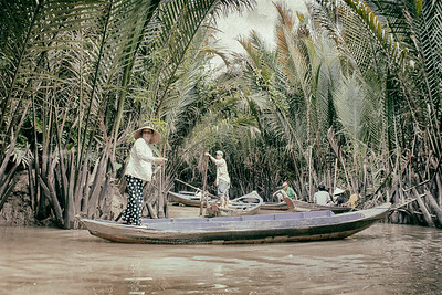 Boating in Mekong - A Vintage Edit