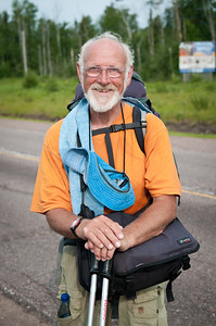 Brrom, walking for 20 years.  Hwy 11/17 near Thunder Bay, Ont.
