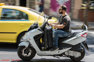 Scooter and Luggage