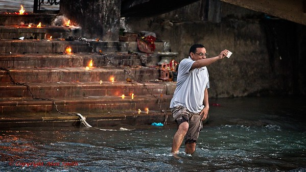 Aarti Ritual of the Sacred Ganges - Haridwar, India