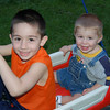 9 - AJ and Vinnie in Wagon