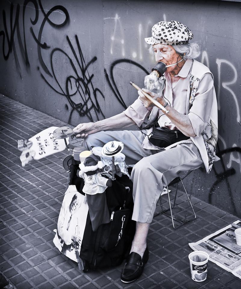 Street Musician, San Telmo Antique Market, Buenos Aires, Argentina