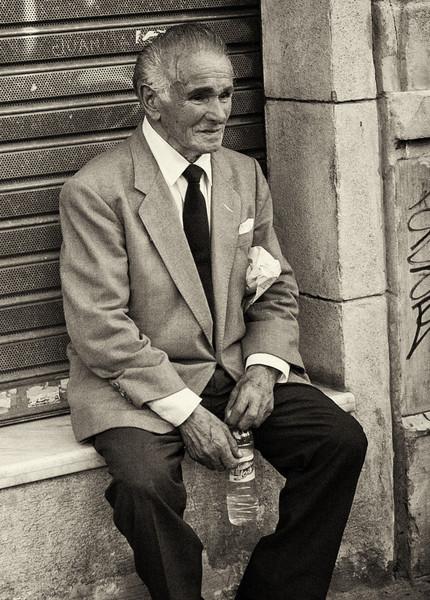 Elderly man in market, Buenos Aires