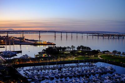 Dawn over San Diego Bay