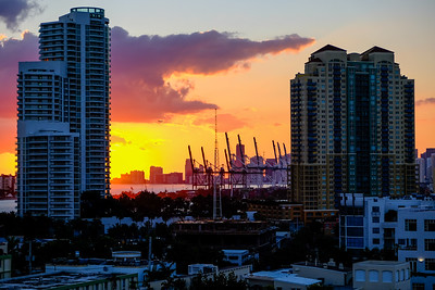 Miami skyline from Marriott Stanton lounge