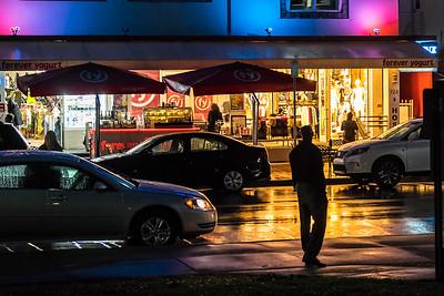Ocean Boulevard on a rainy night