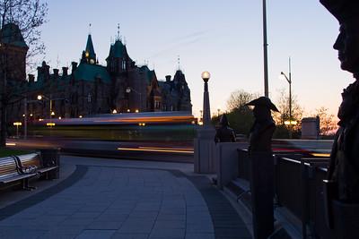 Wellington Street after sunset