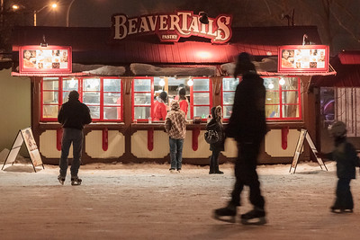 Buying Beaver Tail pastry on the Rideau Canal Skateway
