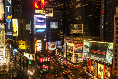 View from our room over Times Square (Marriott Marquis)