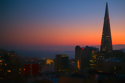 Transamerica Pyramid at dawn