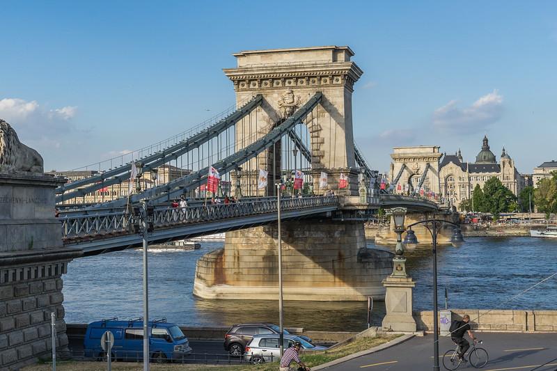 Chain Bridge across the Danube, Budapest from Buda side