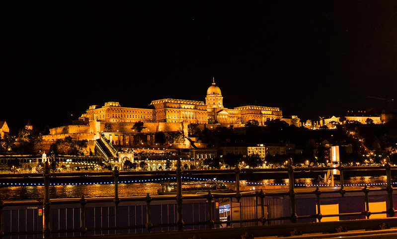 Buda Castle from Pest side of river
