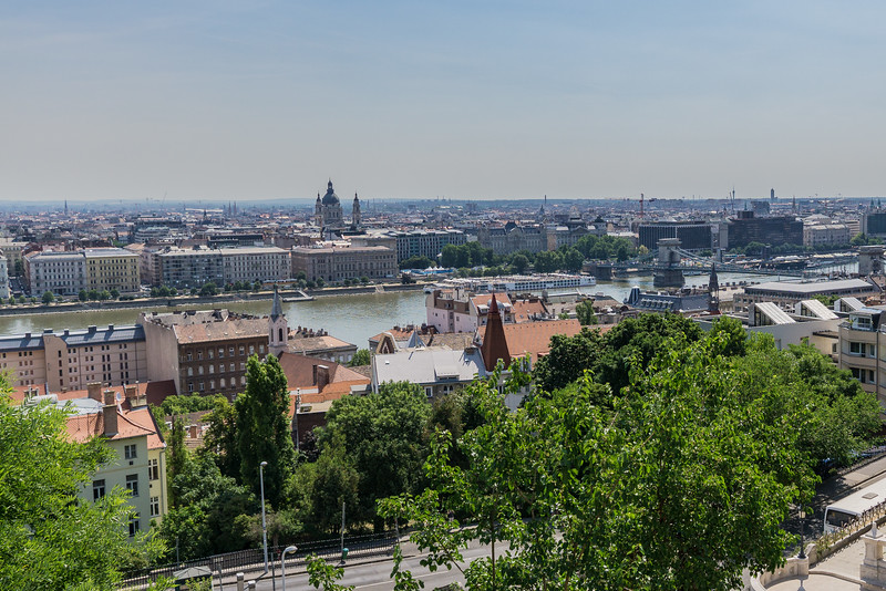 View of Budapest from Castle HIl