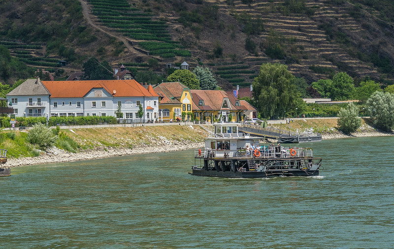 Cable ferry across Danube in Spitz, Austria