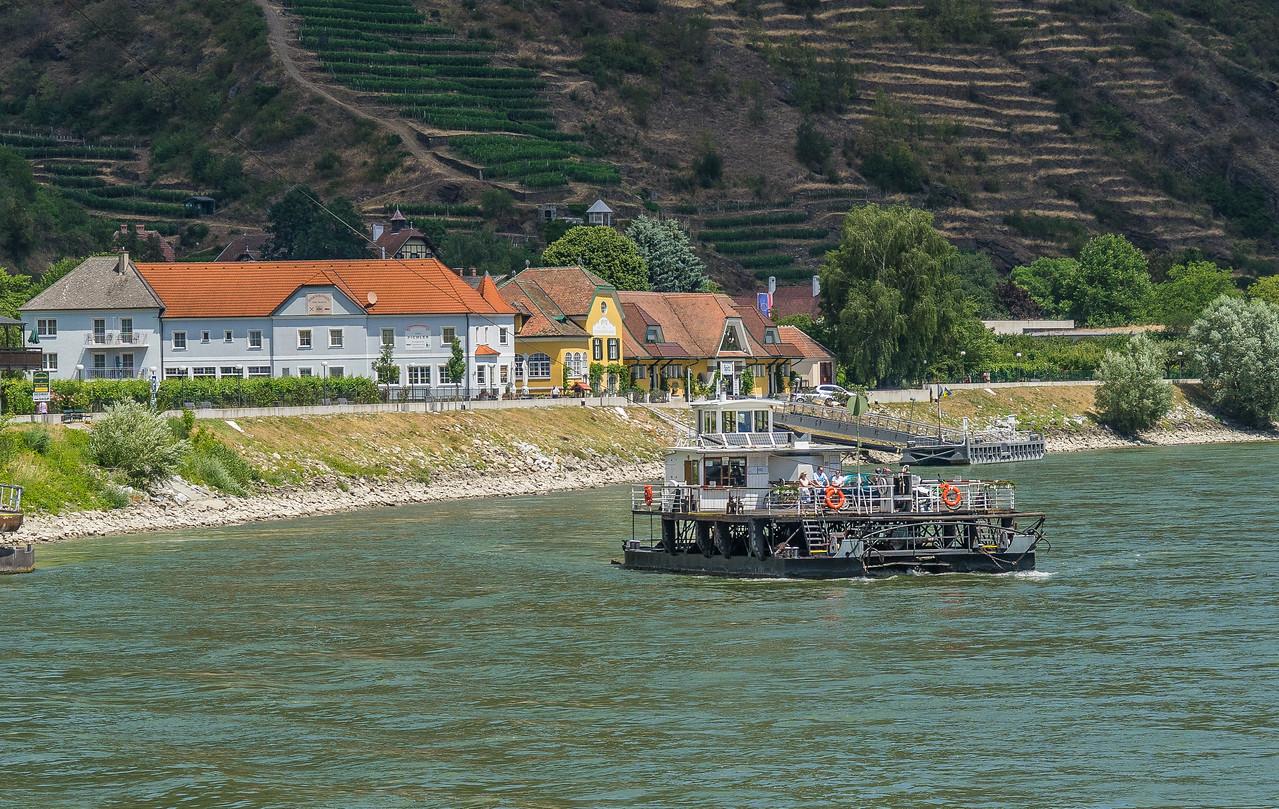 Cable ferry across Danube in Spitz, Austria