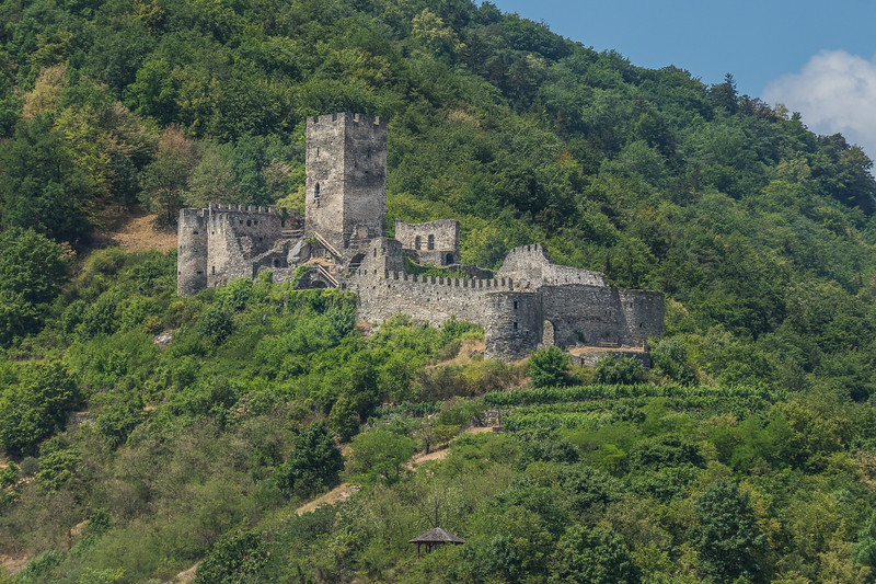 Ruins of Hinterhaus Castle, Spitz, Wachau Valley, Austria