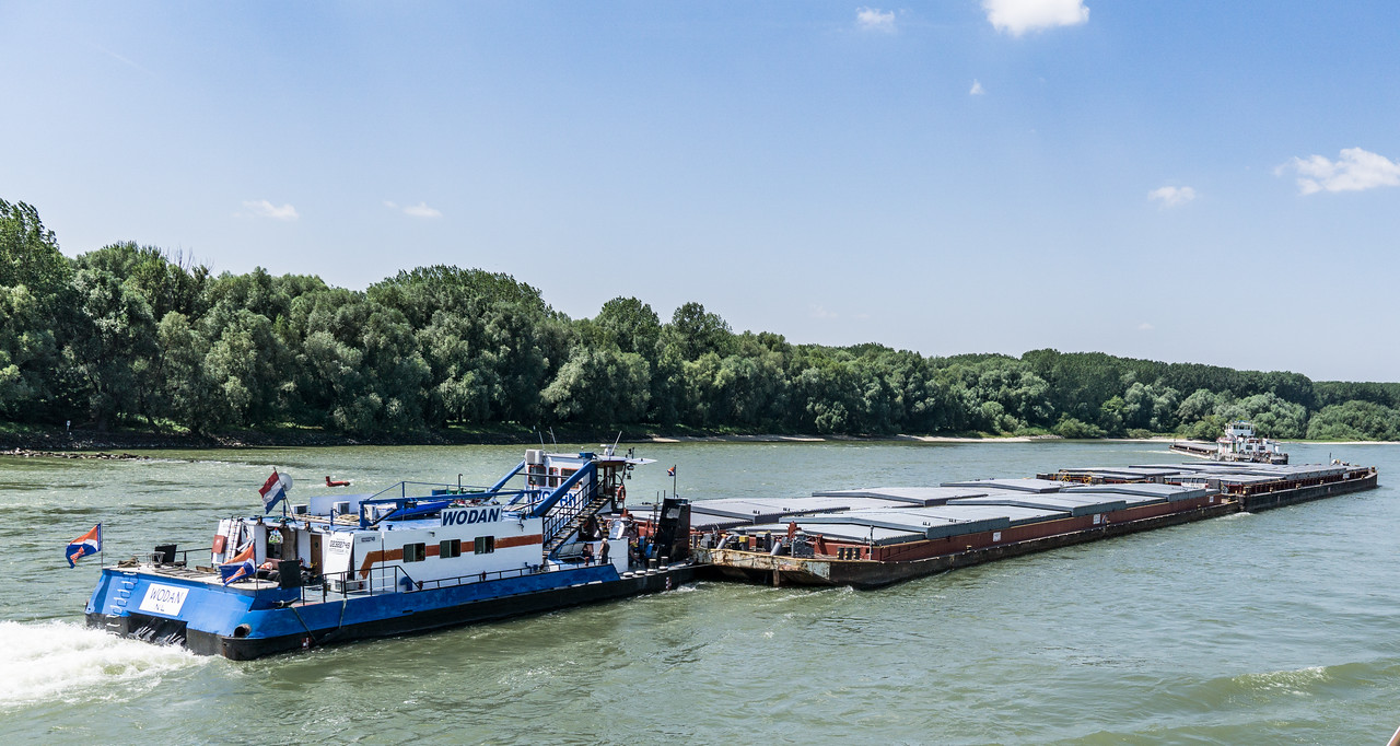 Commercial shipping on the Danube