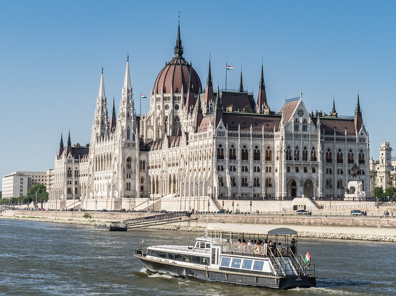 Sailing past Hungarian Parliment on Danube