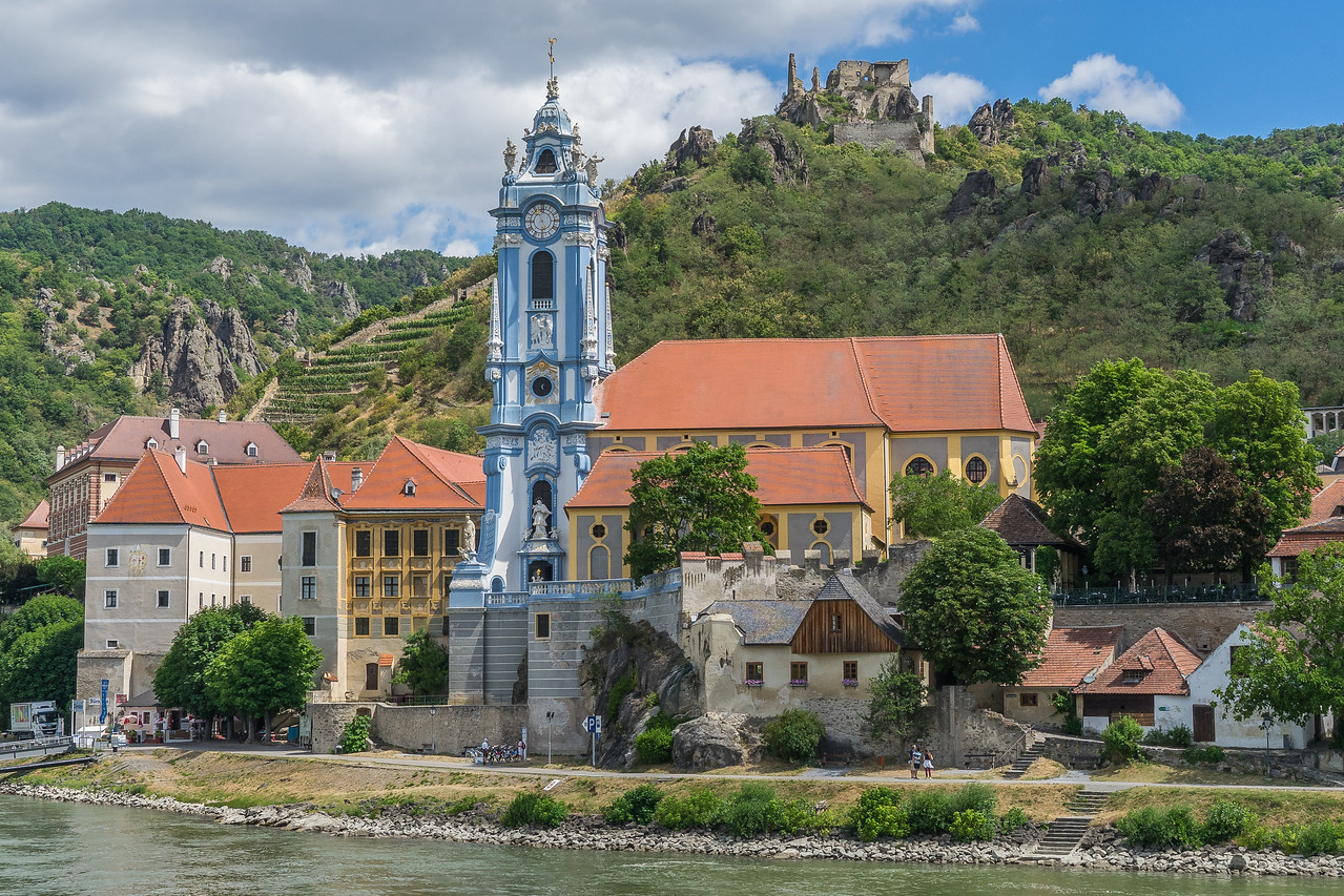 Durnstein Abbey and Castle from the Danube