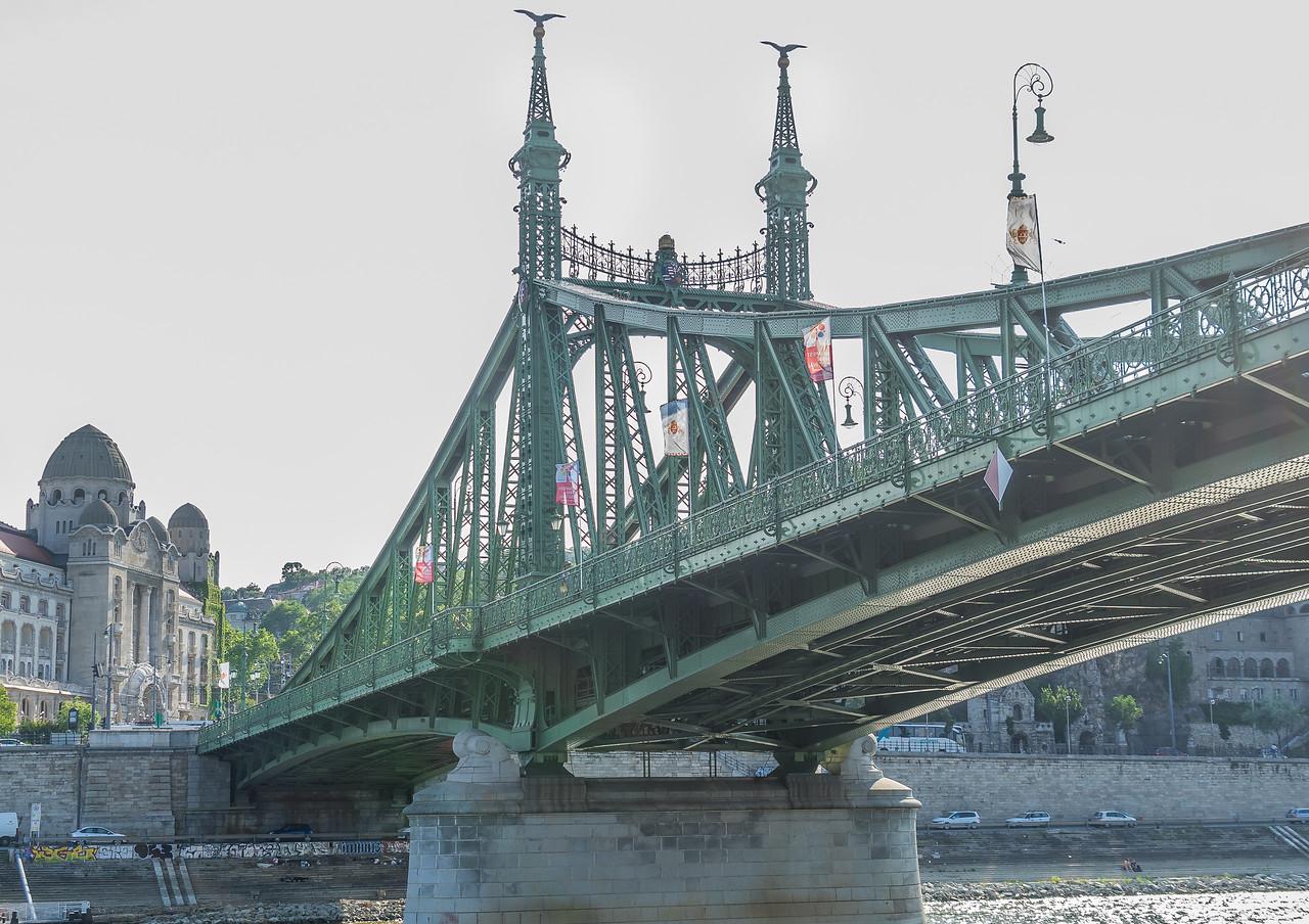 Liberty Bridge over Danube in Budapest