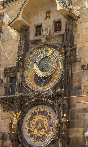 Astronomical Clock on Old Town Hall in Old Town Square, Prague