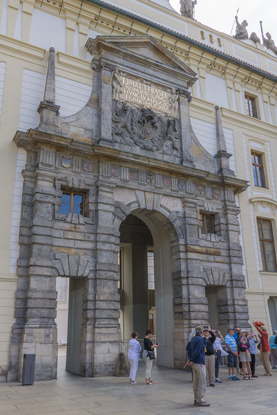 Entrance from first to second courtyard in Prague Palace