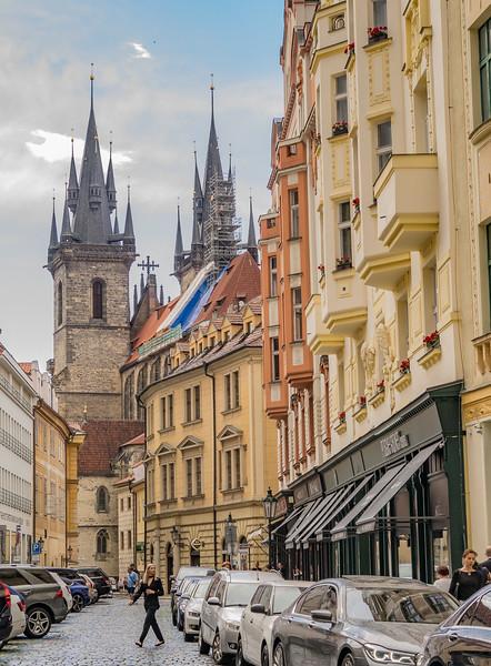 Tyn Church on Old Town Square, Prague