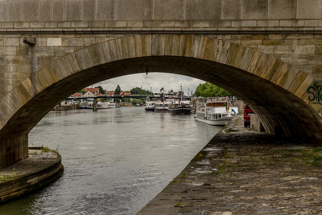 12th century stone bridge, Regensberg, Germany