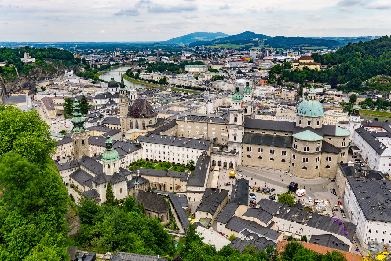 View of Salzburg from Castle