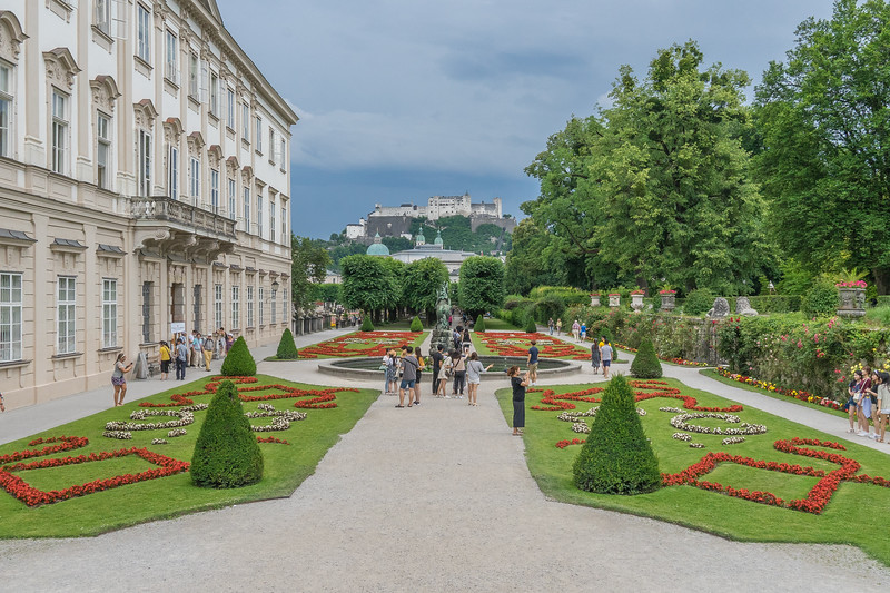 """Mirabell Palace. View from """"do-re-mi"""" stairs."""
