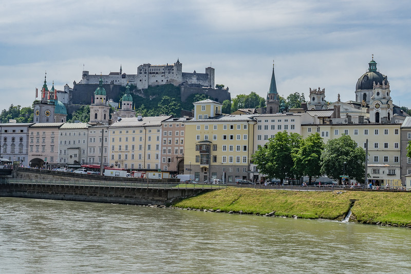 Salzburg with Castle in background