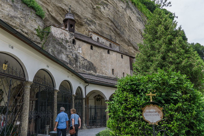 Catacombs built into cliff above St. Peter's cemetery
