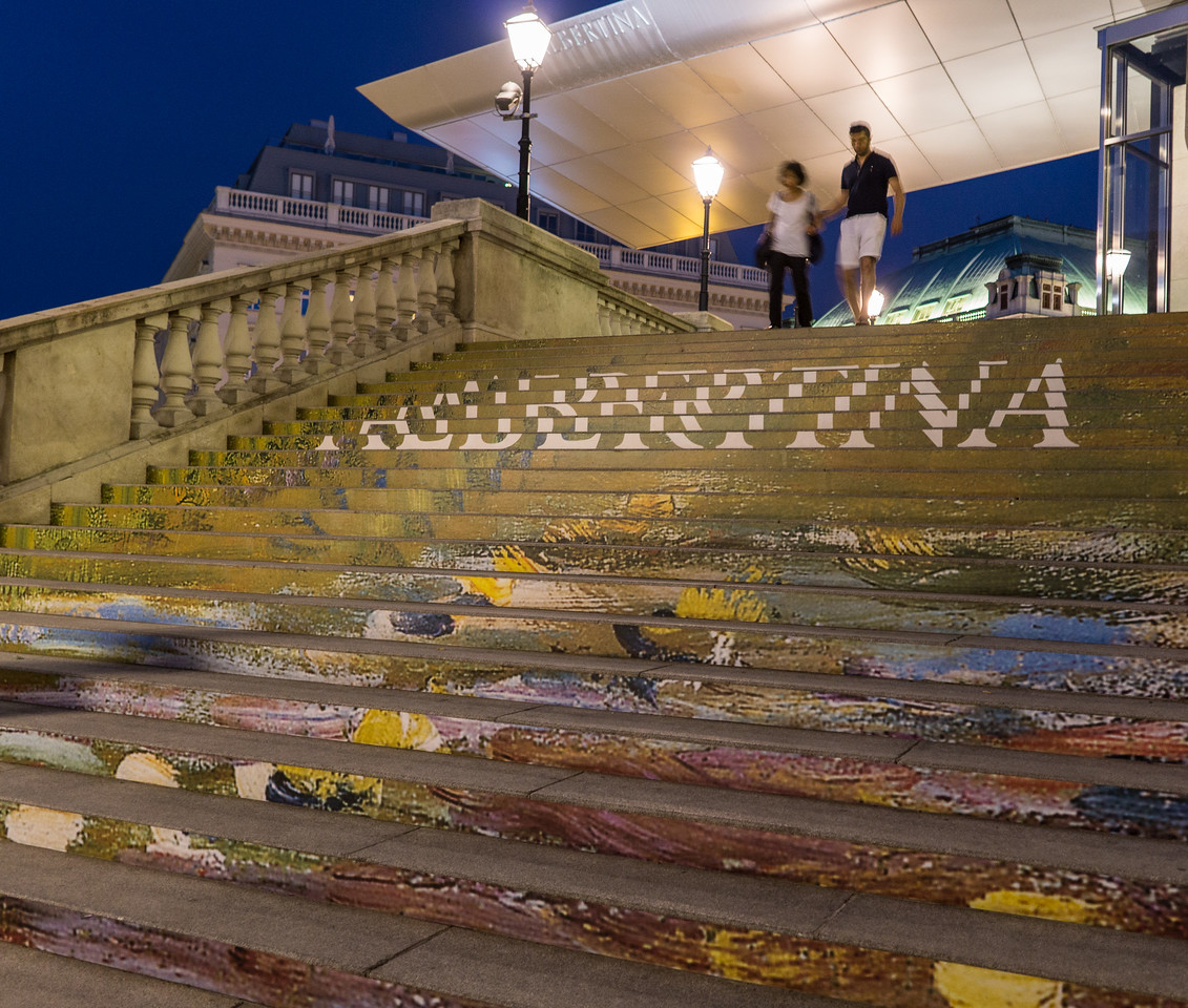 Monet steps at Albertina Museum, Vienna