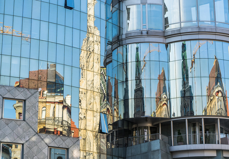 Reflections on St. Stephen's Square, Vienna