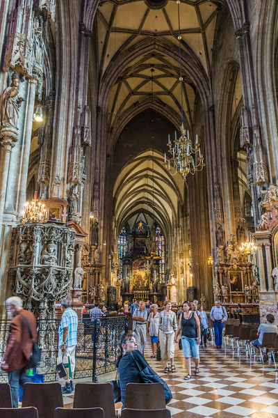 Inside St. Stephen's Cathedral, Vienna