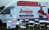 004 VIP Printing and Jones Realty booth with Roger at Making Strides Walk Daytona Beach