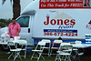 003 VIP Printing and Jones Realty booth with Roger at Making Strides Walk Daytona Beach