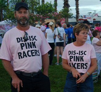 023 Pink Racers preparing for Making Strides Walk