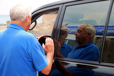 12 Bob and Buddy the Beach Toll Takers greeting a beach goer