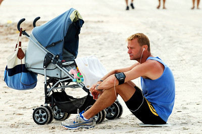17 Beach Toll Takers can see joggers taking breaks