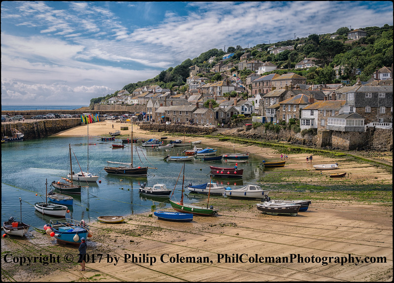 Mousehole Harbour, Low Tide