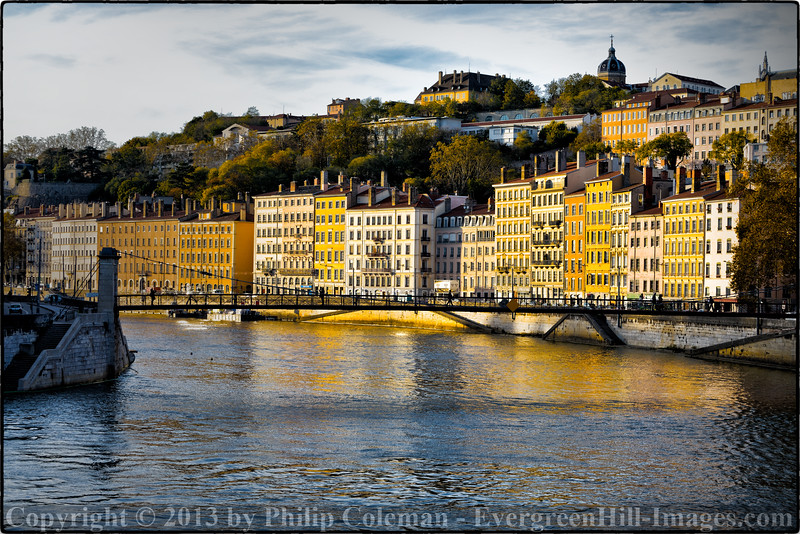 Lyon Riverfront at Sunset