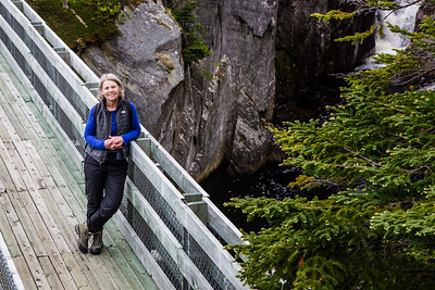 Di on La Manche suspension bridge