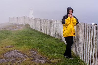 Diane enjoying Cape Spear