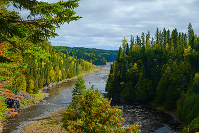 Kaministiquia River, located beside the village of Kakabeka Falls